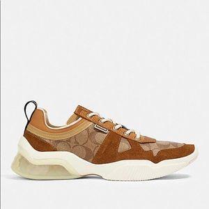 Coach Citysole Runner Sneaker Khaki Light Saddle